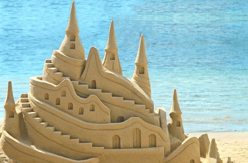 Building Sand Castles Maui Family