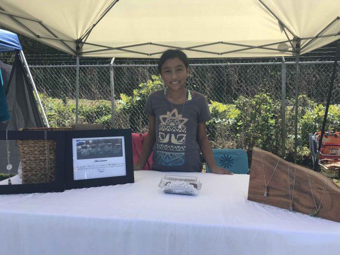 young entrepreneur at keokea craft fair